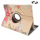 For Tab S2 9.7/T815 Peony Pattern Leather Case with 360° Rotating Holder