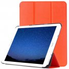 For Tab S2 9.7/T815 Orange Custer Texture Leather Case with 3-Folding Holder
