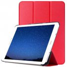 For Tab S2 9.7/T815 Red Custer Texture Leather Case with 3-Folding Holder