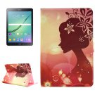For Tab S2 9.7/T815 Fashion Girl Diamond Flip Leather Case with Holder