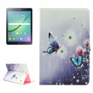For Tab S2 9.7/T815 Butterfly Diamond Flip Leather Case with Holder