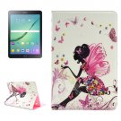 For Tab S2 9.7/T815 Fairy Diamond Flip Leather Case with Holder