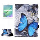 For Tab S2 9.7/T815 Butterfly Flip Leather Case with Holder, Card Slots & Wallet