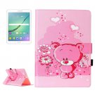 For Tab S2 9.7/T815 love Bear Flip Leather Case with Holder, Card Slots & Wallet