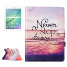 For Tab S2 9.7/T815 Dreaming Flip Leather Case with Holder, Card Slots & Wallet