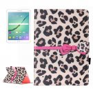 For Tab S2 9.7/T815 Leopard Flip Leather Case with Holder, Card Slots & Wallet
