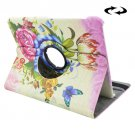 For Tab S2 8.0/T715 Colorful Rose Pattern Leather Case with 360° Rotation Holder