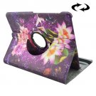 For Tab S2 8.0/T715 Water Lilies Pattern Leather Case with 360° Rotation Holder