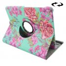 For Tab S2 8.0/T715 Chinese Rose Pattern Leather Case with 360° Rotation Holder