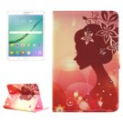 For Tab S2 8.0/T715 Fashion Girl Pattern Diamond Flip Leather Case with Holder