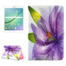 For Tab S2 8.0/T715 Flower Pattern Diamond Flip Leather Case with Holder