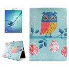 For Tab S2 8.0/T715 Owl Drawing PC + PU Leather Case with Holder & Card Slots