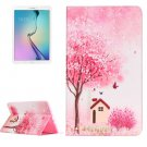 For Galaxy Tab E 9.6 Cottage Pattern Flip Leather Case with Holder