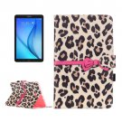 For Galaxy Tab E 9.6 Leopard Pattern Flip Leather Case with Holder, Card Slots & Wallet