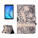 For Galaxy Tab E 9.6 Flower Pattern Flip Leather Case with Holder, Card Slots & Wallet