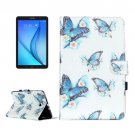 For Galaxy Tab E 9.6 Butterfly Pattern Flip Leather Case with Holder, Card Slots & Wallet