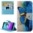 For Galaxy A5(2016) Butterfly Leather Case with Holder, Card Slots & Wallet