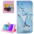 For Galaxy A5(2016) Butterflies Pattern Leather Case with Holder, Card Slots & Wallet