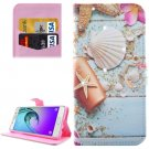 For Galaxy A5(2016) Starfish Pattern Leather Case with Holder, Card Slots & Wallet