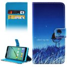 For Galaxy A5(2016) Little People Pattern Leather Case with Holder, Card Slots & Wallet