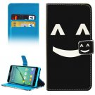 For Galaxy A5(2016) Smiling Pattern Leather Case with Holder, Card Slots & Wallet