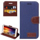 For Galaxy A5(2016) Dark Blue Jeans Horizontal Flip Leather Case with Holder & Card Slots