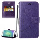 For Galaxy A5(2016) Purple Crazy Horse Printing Leather Case with Holder, Card Slots & Wallet