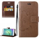 For Galaxy A5(2016) Brown Crazy Horse Printing Leather Case with Holder, Card Slots & Wallet