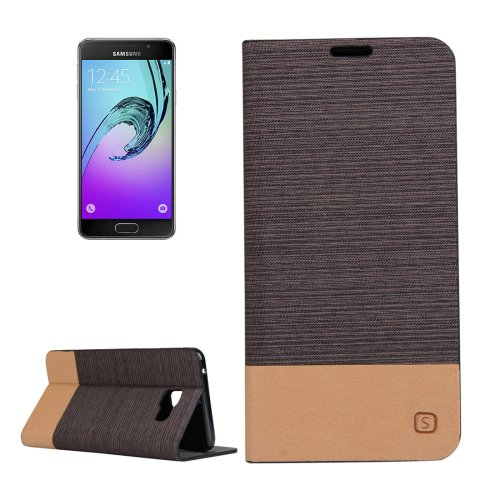 For Galaxy A5(2016) Brown PU + TPU Flip Leather Case with Holder & Card Slots