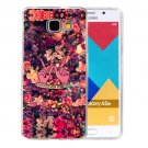For Galaxy A5(2016) Flowers Pattern Blu-ray Soft TPU Protective Case