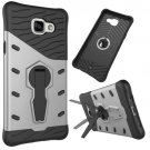 For Galaxy A5(2016) Silver Spin Tough Armor TPU+PC Combination Case with Holder