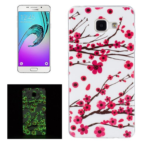 For Galaxy A5(2016) Noctilucent Plum Pattern IMD Soft TPU Back Cover Case