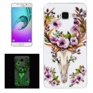 For Galaxy A5(2016) Noctilucent Sika Deer Pattern IMD Soft TPU Back Cover Case