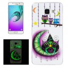 For Galaxy A5(2016) Noctilucent Owls Pattern IMD Soft TPU Back Cover Case