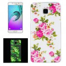 For Galaxy A5(2016) Noctilucent Rose Pattern IMD Soft TPU Back Cover Case