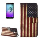 For Galaxy A5(2017) US Flag Pattern Leather Case with Holder, Card Slots & Wallet