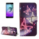 For Galaxy A5(2017) Butterflies Pattern Leather Case with Holder, Card Slots & Wallet