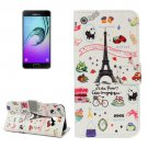 For Galaxy A5(2017) Symbols Pattern Leather Case with Holder, Card Slots & Wallet