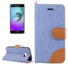 For Galaxy A5(2017) Baby Blue Denim Flip Leather Case with Holder & Card Slots