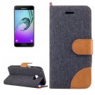 For Galaxy A5(2017) Black Denim Flip Leather Case with Holder & Card Slots