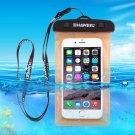 For Galaxy A5 & More HAWEEL Orange Universal Waterproof Bag with Lanyard