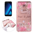 For Galaxy A5(2017) Peacock Pattern Electroplating Frame Soft TPU Case