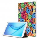 For Galaxy Tab E 8.0 Painting Custer 1 Texture Flip Leather Case with 3 Fold Holder
