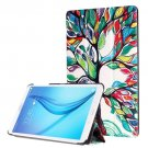 For Galaxy Tab E 8.0 Painting Custer 3 Texture Flip Leather Case with 3 Fold Holder