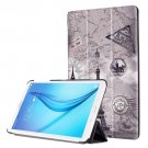 For Galaxy Tab E 8.0 Painting Custer 5 Texture Flip Leather Case with 3 Fold Holder