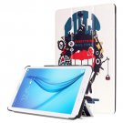 For Galaxy Tab E 8.0 Painting Custer 9 Texture Flip Leather Case with 3 Fold Holder