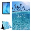 For Galaxy Tab E 8.0 Sea Pattern Flip Leather Case with Holder & Card Slot