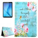 For Galaxy Tab E 8.0 Flowers Pattern Flip Leather Case with Holder & Card Slot