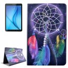 For Galaxy Tab E 8.0 Windbell Pattern Flip Leather Case with Holder & Card Slot
