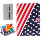 For Galaxy Tab E 8.0 US Flag Pattern Flip Leather Case with Holder & Card Slots & Wallet